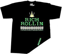 STREETWISE ROLLIN T-shirt Urban Streetwear Tee Adult Men Black NWT