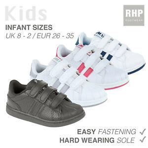 Boys Girls Childrens Kids Adjustable Strap School Pumps PE Trainers Shoes SALE