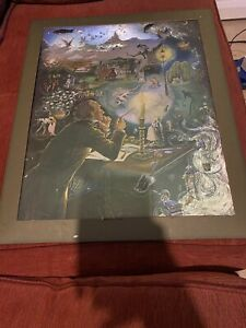 Hans Andersen's Dreams Picture By Janet And Anne Grahame Johnstone - Foil Print