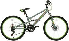 "Apollo Creed Junior Kids Mountain Bike Bicycle 24"" Steel Frame Full Suspension"