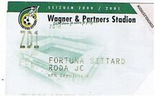 Ticket - Fortuna Sittard v Roda JC 31.01.01
