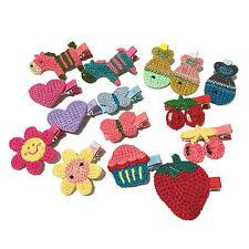 15PCS Handmade Kintted Hair Clips Baby Girls Princess Lovely Hair Style Buckle