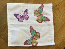 Laura Ashley Summer Meadow 3 Butterflies Face Cloth, BNWT