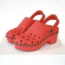 MAISON MARTIN MARGIELA $1215 rubberized leather shoes wood platform clogs 36 NEW