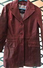 """Veste femme Bordeaux type vintage cuir luxe """" Redskin"""" T 40 M comme neuf"""