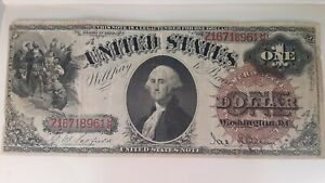 1880 One Dollar Bill America Legal Tender Note