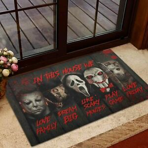 In This House We Love Family Friday Horror Movies Characters US.Doormat
