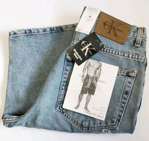 Calvin Klein Jeans Mens 33 Loose Relaxed Short Heavy Destroyed Wash New $48