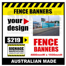 Custom Outdoor Fence Mesh Banner Sign Wrap - 4800mmW x 1500mmH Signage Warehouse