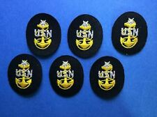 6 Lot Vintage US Navy Rank Seinor Chief Petty Officer SCPO Uniform Patches 214