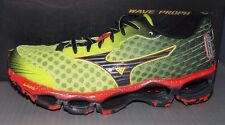 MENS MIZUNO WAVE PROPHECY 4 in colors LIGHT GREEN / BLACK / ORANGE SIZE 7