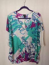 Olian Multi Color Loose Tunic Blouse Size XL