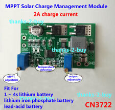 MPPT Solar Panel Lithium Lead-acid Battery Charging Board Controller 2A max 90W