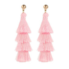 Fashion Women Bohemian Long Tassel Earrings Dangle Fringe Drop Elegant Jewelry