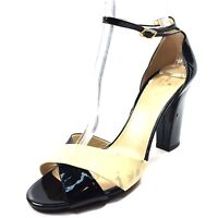 Kate Spade New York Isabel Black Beige Patent Leather Sandals Womens Size 9.5 M*