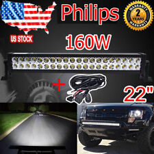 PHILIPS 22inch 160W Combo Led Work Light Bar UTE OFFROAD IP67 LAMP+ Wiring KIT