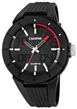 Calypso Uhr by Festina Herren schwarz weiß rot K5629/2 Armbanduhr