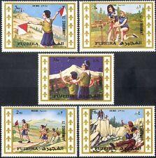 FUJEIRA 1971 Jamboree mondiale Dello Scautismo/Girl Scout/Guide/Persone/Youth 5 V Set (s5356)