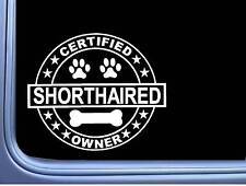 "Certified German Shorthaired Pointer L316 Dog Sticker 6"" decal"