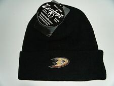 Anaheim Mighty Ducks Beanie / Toque / Knit Cap Authentic Black NHL Zephyr