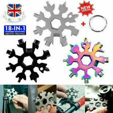 Saker® 18-in-1 stainless steel snowflakes multi-tool Snowflake Shape + Key Chain