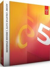 Adobe Creative Suite cs5 design standard MAC tedesco pieno IVA BOX unregistriert