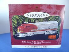 Hallmark 1950 Santa Fe F3 Diesel Locomotive Lionel Train Die Cast Metal Ornament