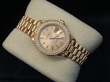 Rolex Datejust президента дамы твердого 18K желтое золото часы бриллиант безель 69178