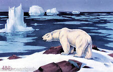 "(2 Bear Prints) ""THE ARCTIC MONARCH"" & ""TIME TO CALL IT A YEAR"" By Les Kouba"