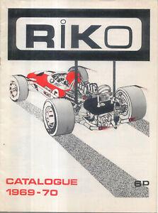 Riko Catalogue 1969-70 Cars Racing Cars Motorcycles Military Aircraft Slot Car
