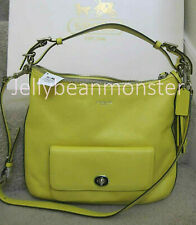 COACH 22381 LEGACY LEATHER COURTENAY HOBO BAG PURSE Crossbody Lemon Yellow New