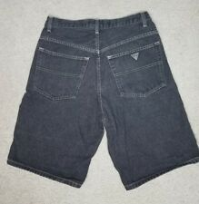 VTG 80s 90s GUESS Jean Short 31 Mens Faded Black Denim Georges Marciano USA