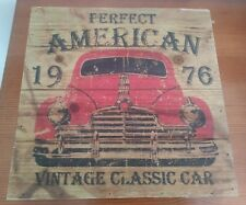 Classic American Car Vintage Look Classic Car Wooden Sign wall art wall hanging