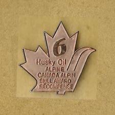 SKI CANADA HUSKY OIL SKILL ALPINE AWARD LEVEL 6 NIVEAU OFFICIAL PIN OLD