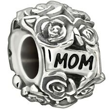 NEW AUTH CHAMILIA STERLING SILVER 2010-3202 A DOZEN ROSES FOR MOM BEAD CHARM