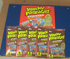 WACKY PACKAGES ANS1 SEALED 5 UNOPENED PACKS IN EXCELLENT CONDITION