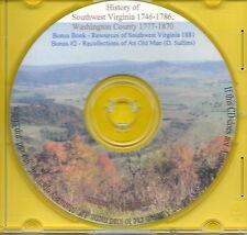 History of Southwest Virginia 1746-1786 Genealogy