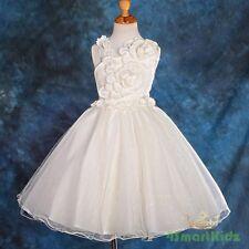 Ivory Pearls Flower Girl Dress Wedding Bridesmaid Flowergirl Party Size 6 172