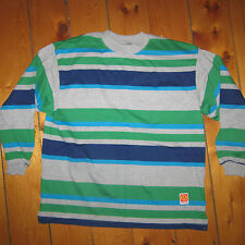vintage NOS unisex men M/L '90s GOTCHA surfer STRIPED long Sleeve T-Shirt USA