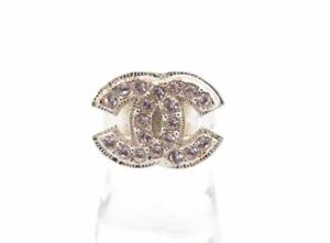 Vintage CHANEL Ring 08C  Coco  Pink Stone