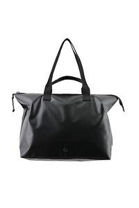 Stighlorgan TLR Laptop Tote Bag In Shiny Black Tarpaulin With Dual Straps