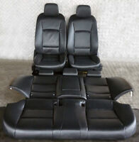 BMW 5 Series F10 Black Leather Interior Seats With Door Cards