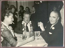 Michel Simon et le PDG AIR FRANCE à TAHITI en Mai 1960 (voyage inaugural) 13x18