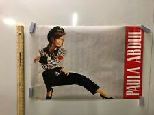 Vintage Music Poster Paula Abdul American Idol Straight Up 1980's Rush Rush