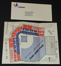 1970 - MONTREAL EXPOS - SECOND YEAR IN THE MLB - LEAFLET /SCHEDULE + ENVELOPE
