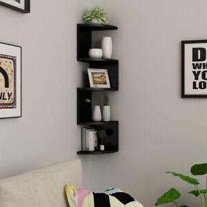 Floating Corner Shelf Wall Mounted Bookshelf Storage Display Unit 3 Tier Shelves