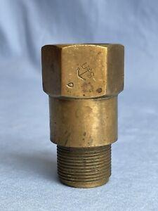WWII U.S. NAVY MARK V SCHRADER Non Return Valve / Inspection Stamp Diving Helmet