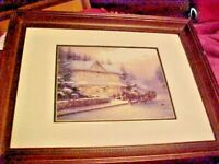 HOUSE AND CARRIAGE Thomas Kincaid Framed Print 16 X13  PRINT 7 X 8 IN NO GLASS