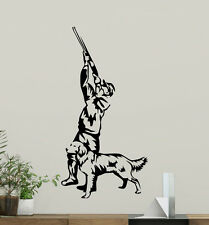 Hunter Wall Decal Hunting Decor Dog Nature Vinyl Sticker Art Poster Mural 214xxx