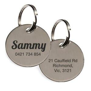 Round Disc Engraved Tag